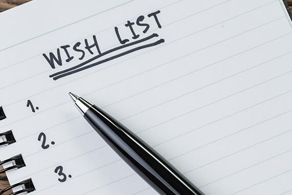 Wishlist & Needs